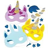 """Baker Ross Masken-Sets """"Einhorn"""" für Kinder zum Gestalten und..."""