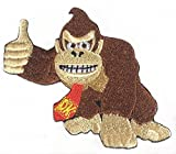 Donkey Kong Patch 7,6 cm bestickt zum Aufbügeln auf Abzeichen Retro...