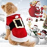 Idepet Santa Hundekostüm Weihnachten Baumwolle Haustier Kleidung...