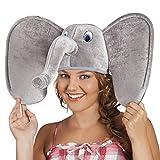 Boland 99949 - Erwachsenenhut Elefant, mit grauen Ohren und Rüssel,...