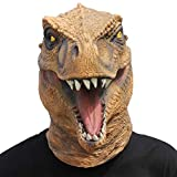 CreepyParty Halloween Kostüm Party Tierkopf Latex Maske Dinosaurier