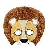 Widmann 03884 - Augenmaske Plüschlöwe, für Erwachsene, Tiermaske,...