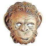 NET TOYS Kinder Affenmaske Affen Maske braun AFFE Maske Affemaske...