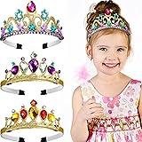 3 Stücke Prinzessin Ankleiden Stirnband Tiara Lila Gold Tiara Krone...