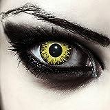 Gelbe farbige Pennywise Kontaktlinsen ohne Stärke für Halloween...