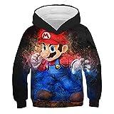 Super Mario Print 3D Kinder Hoodies, Anime Sonic Casual Sweatshirts...