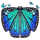 DURANTEY Schmetterling Kostüm Damen Umhang Flügel Schal Erwachsene...