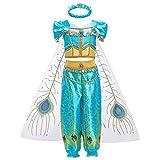 FYMNSI Mädchen Jasmin Kostüm Aladdin Prinzessin Karneval Cosplay...