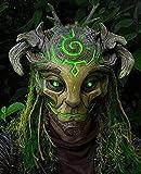 KHYQKJ Halloween-Waldgeist-Maske, realistische Gesichtskostüme,...