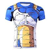 CoolChange Vegeta Cosplay T-Shirt | Kostüm für Dragon Ball Fans |...