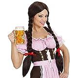 Widmann P0737 - Perücke Gretel, braun, mit Zöpfen,...