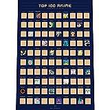 Top 100 Anime Scratch Off Poster - Die Beste Japanische Animation...