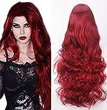32 '/ 80cm rote Perücken für Frauen lange lockige gewellte Perücke...