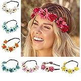 BJ-SHOP Stirnband Blumen,Blumenkranz Rose Hawaiian Luau Blume Seaside...