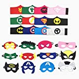 Topways® 12 Packs Cosplay Superhelden Masken and Superhelden Armband...