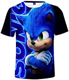 Takyojin Jungen Cool 3D Cartoon T Shirt Sonic The Hedgehog Japanischer...