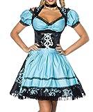 Dirndl Kleid Kostüm mit Bluse und Schürze aus Jacquard Stoff und...