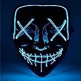 TK Gruppe Timo Klingler LED Grusel Maske blau - wie aus Purge für...