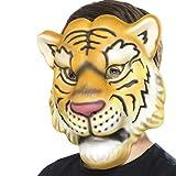 NET TOYS Tigermaske für Kinder Tiermaske Tiger Löwenmaske...