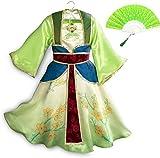EMIN Mulan Kostüm Mädchen Kleid mit Chinesische Handfächer...