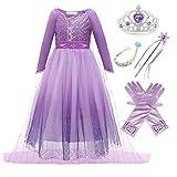 Kosplay Mädchen Kleid Eiskönigin 2 Prinzessin ELSA Kostüm...
