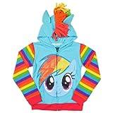 My little Pony Rainbow Dash Blau Mädchens Kostüm Hoodie Sweatshirt...