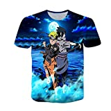 Naruto Tshirt, Herren Damen Sommer Kurzarm Shirt Uchiha Itachi Sasuke...