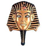 NET TOYS Goldene Pharaomaske Ägypten Maske Gold-schwarz Ägypterin...