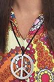 Smiffys Unisex Friedenszeichen Medaillon, One Size, Silber, 99363