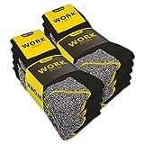 10 oder 20 Paar Herren Arbeitssocken WORK (Schwarz/Grau Meliert  ...