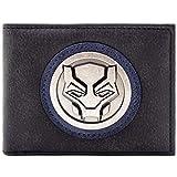 Black Panther Symbol Silber Abzeichen Schwarz Portemonnaie Geldbörse