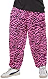 Widmann 9568P - 80-er Jahre Hose mit Zebra Muster, pink, Größe M / L