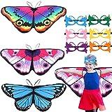 vamei 9 Stück Schmetterling Kostüm Set Schmetterlingsflügel Kinder...