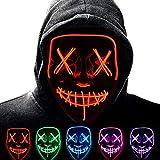 Anxicer Halloween LED Maske Purge Party Leucht Maske für...
