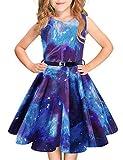 Idgreatim Mädchen Halloween Sommerkleid Kürbis 1950 Rockabilly Swing...
