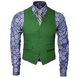 Herren Joker Kostüm Hemd Weste Krawatte Anzug Outfit Set Ritter...