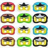 Kreatwow 12 Pack Ninja Maske, Cartoon Dress Up Augenmaske für...