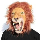 CreepyParty Halloween Kostüm Party Tierkopf Latex Maske Löwe...