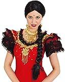 Orlob Damen Perücke Indira zum Inderin Bollywood Kostüm Karneval...