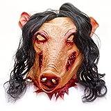 GOODS+GADGETS Horror Schweinemaske Pig Schweine Latex Maske Schwein...