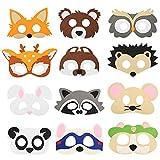 SEELOK 12 Stücke Tiermaske Kinder Filz Masken Tier Kostüm Party...