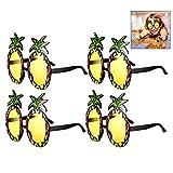 iwobi 4 Paare Sonnenbrille Hawaii Ananas Neuheit Brillen Set Party...