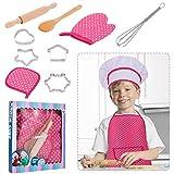 RosewineC Kochset für Kinder 11 Stücke Koch und Backset für Kinder...