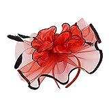 Generic Damen 20er Jahre Schleier Blume Fascinator Hochzeit Prom - Rot
