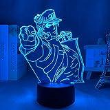 3D-Licht Anime JoJo Bizarre Adventure Jotaro Kujo für Schlafzimmer...