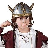 Boland 01351 - Helm Wikinger, silber-gold, Wikingerhelm für Kinder,...