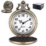 ZHAOJ Vintage Quarz Taschenuhr Herren Mode Anhänger Halskette Uhren,...