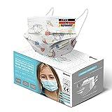 HARD 50x Kinder Medizinischer Mundschutz, Made in Germany, TYP IIR...