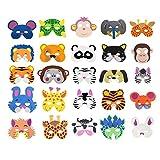 Cosoro Kinder-Tiermasken aus EVA-Schaumstoff, 25 Stück, für...