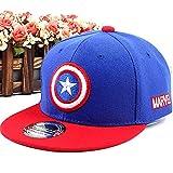 PRETAY Avengers Captain America Snapback Cap,Marvel Logo Baseball...